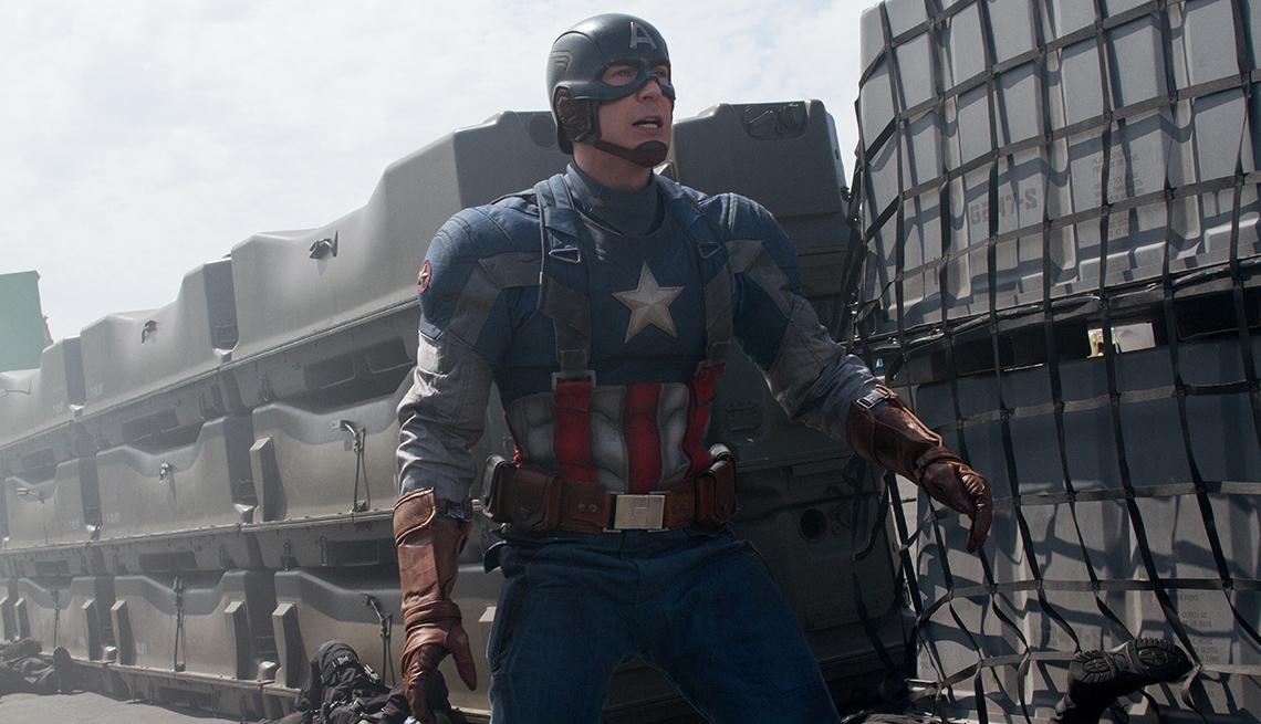 Chris Evans en una escena de 'Captain America: The Winter Soldier'