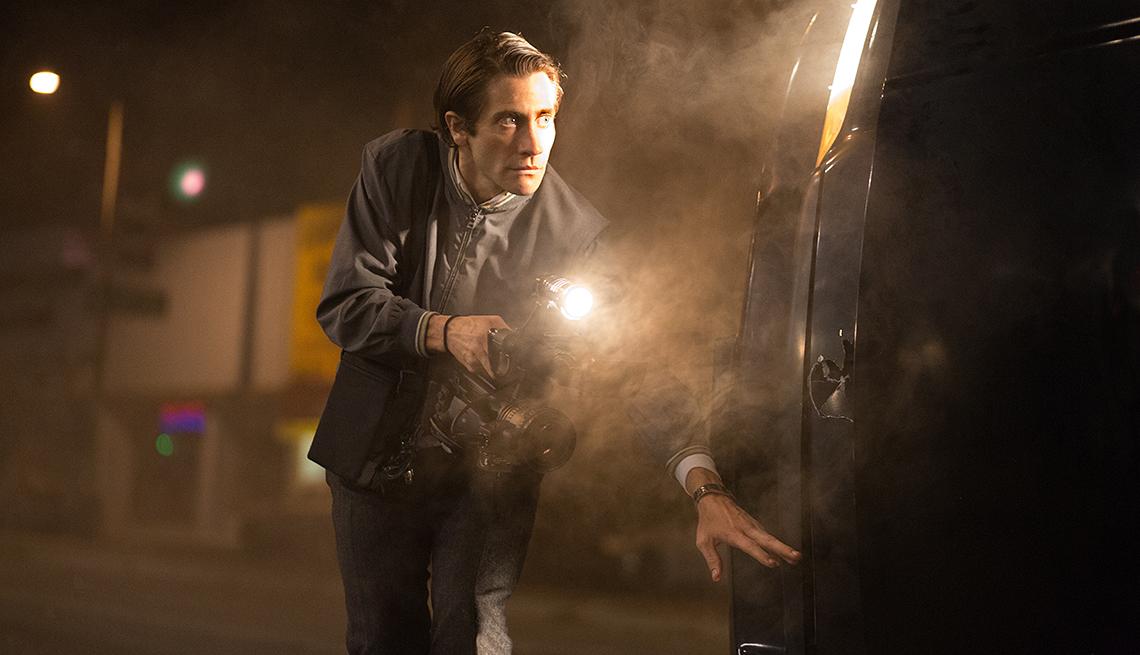 Jake Gyllenhaals, en la película Nightcrawler