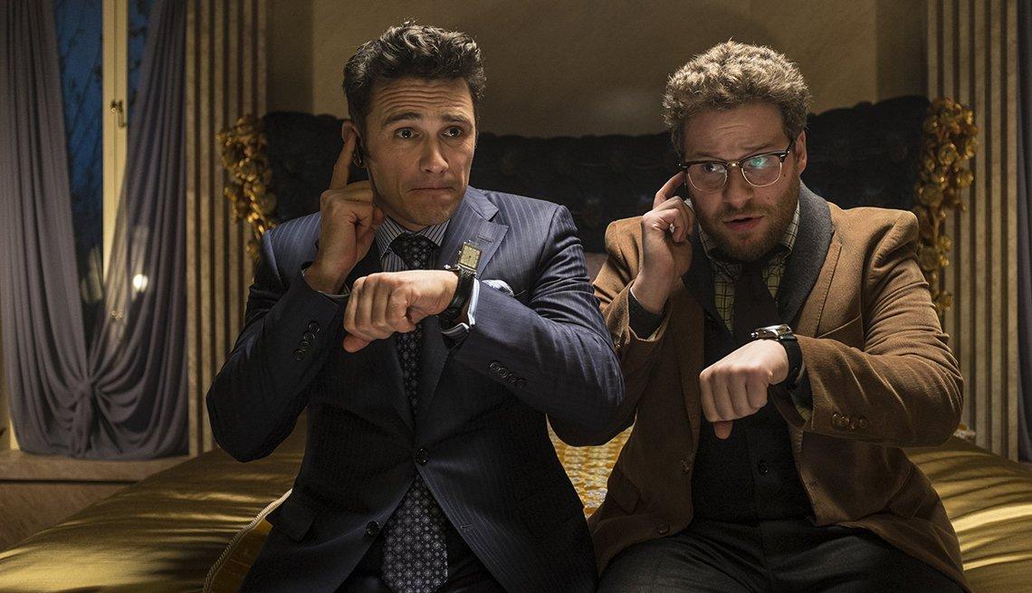 James Franco, Seth Rogen, en la película The Interview