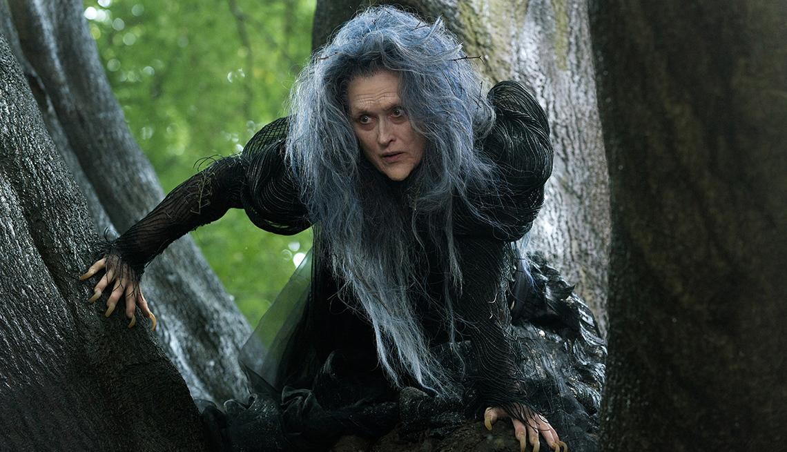 Meryl Streep, es una bruja en la película Into the Woods