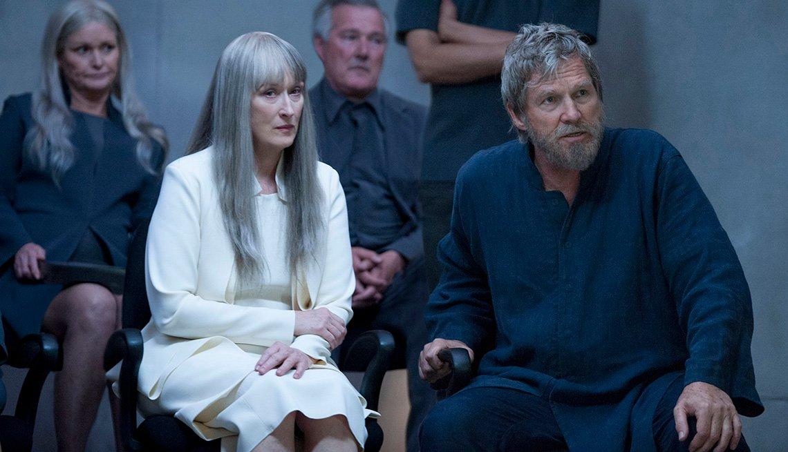 Meryl Steep, Jeff Bridges, en la película The Giver