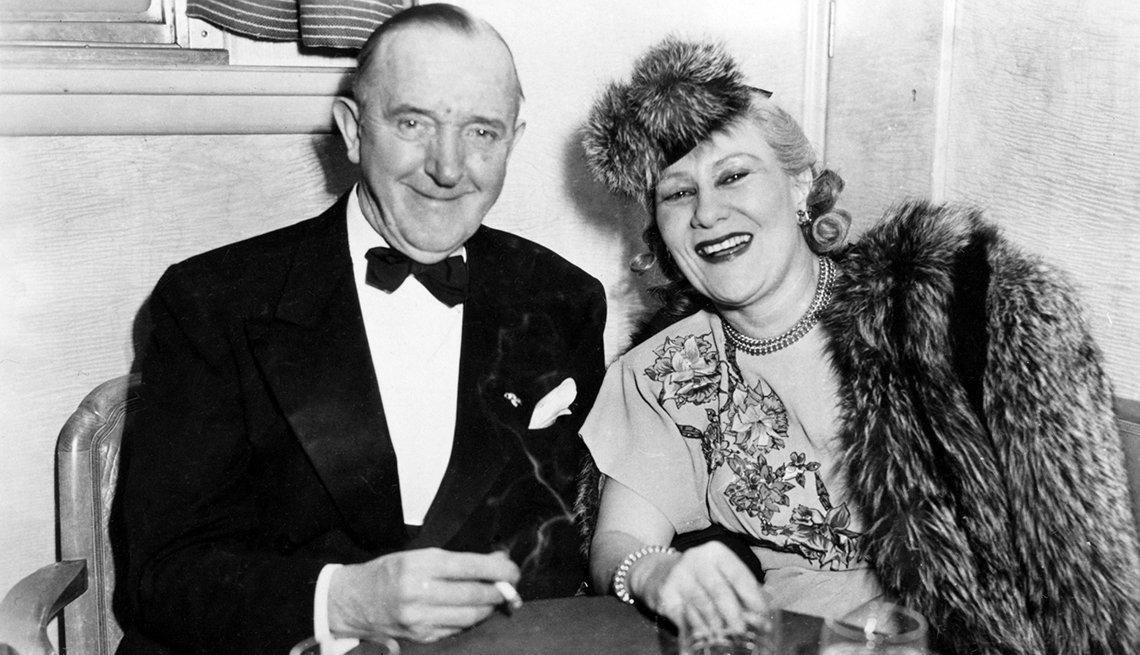 Laurel y Hardy, el Gordo y el Flaco. Stan Laurel con su esposa.