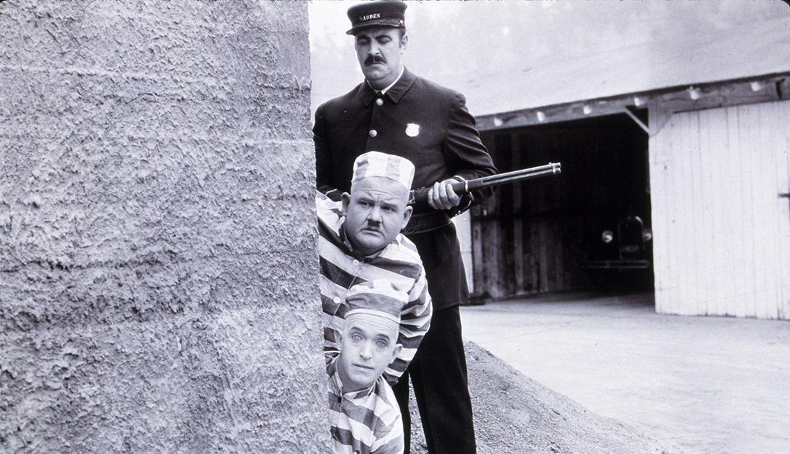 El Gordo y el Flaco, Laurel y Hardy en una escena de la película The Second Hundred Years