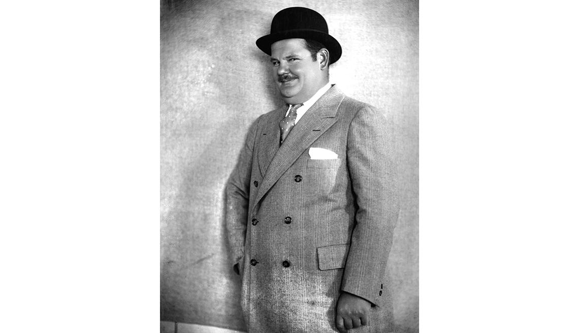 El Gordo y el Flaco. Oliver Hardy en una foto de su juventud.