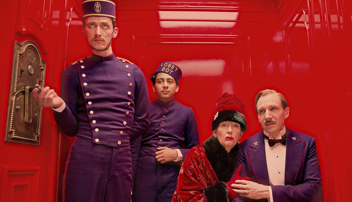 Tilda Swinton y Ralph Fiennes in 'The Grand Budapest Hotel'.
