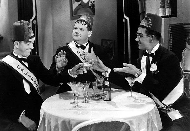 El Gordo y el Flaco, Laurel y Hardy en una escena de la película Sons of the Desert