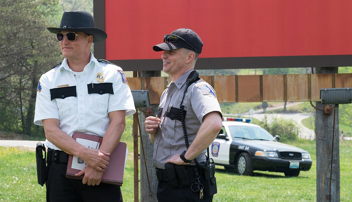 Escena de la película 'Three Billboards Outside Ebbing Missouri'