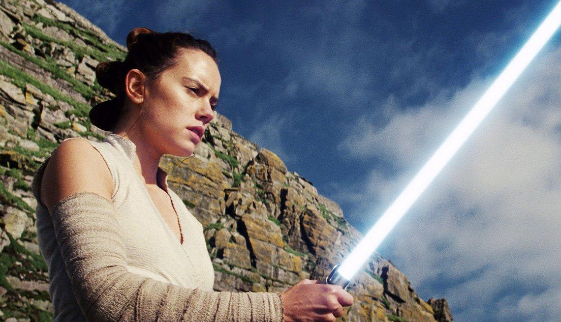 Carrie Fisher en una escena de Star Wars: The Last Jedi