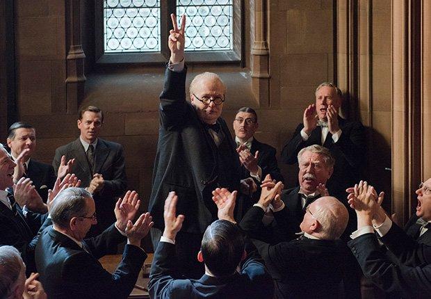 Gary Oldman en una escena de Winston Churchill