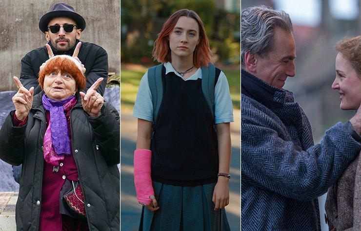 Escenas de las películas Faces Places, Lady Bird, Phantom Thread