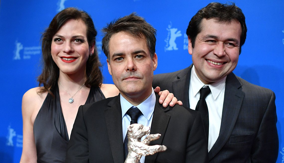 Sebastian Leilo, Gonzalo Maza, Daniela Vega de la película Una mujer fantástica