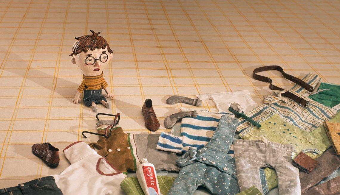 Escena del corto animado nominado al Óscar 2018 Negative Space