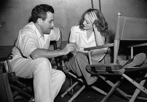 William Wyler y Bette Davis en una escena de The Little Foxes