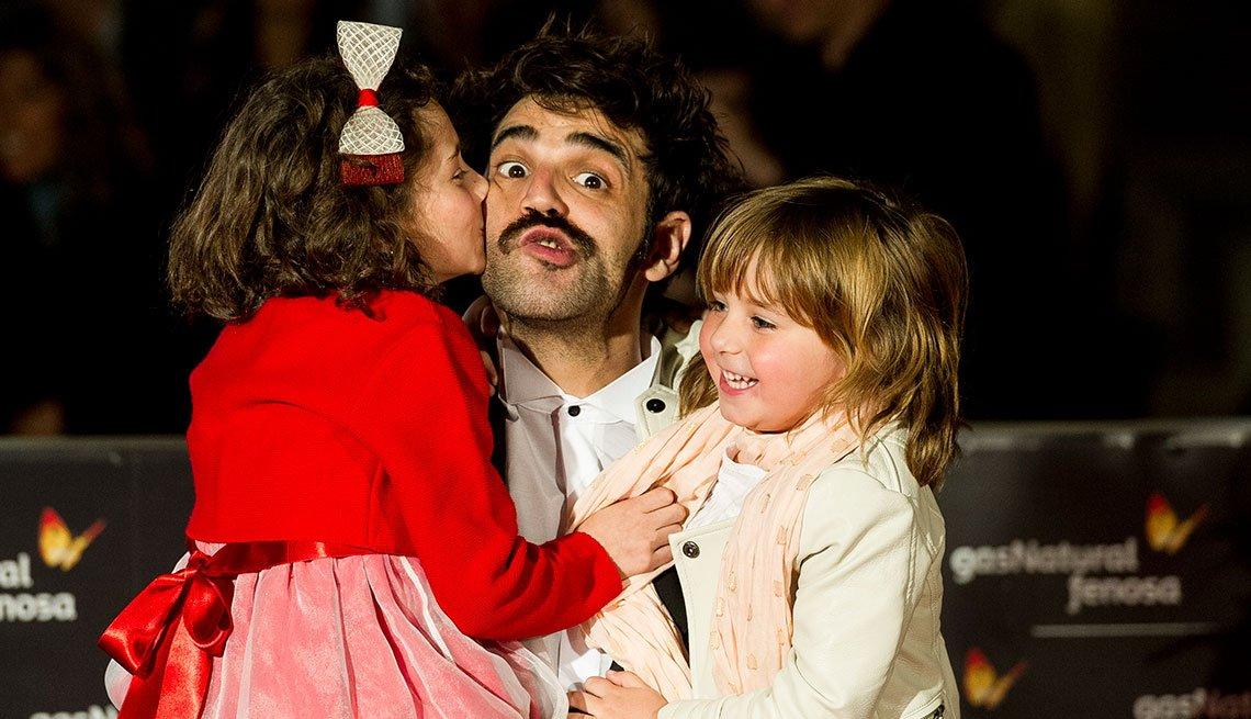 La actriz Laia Artigas, el actor David Verdaguer y actriz Paula Robles durante la premier 'Verano 1993', en Málaga, 2017