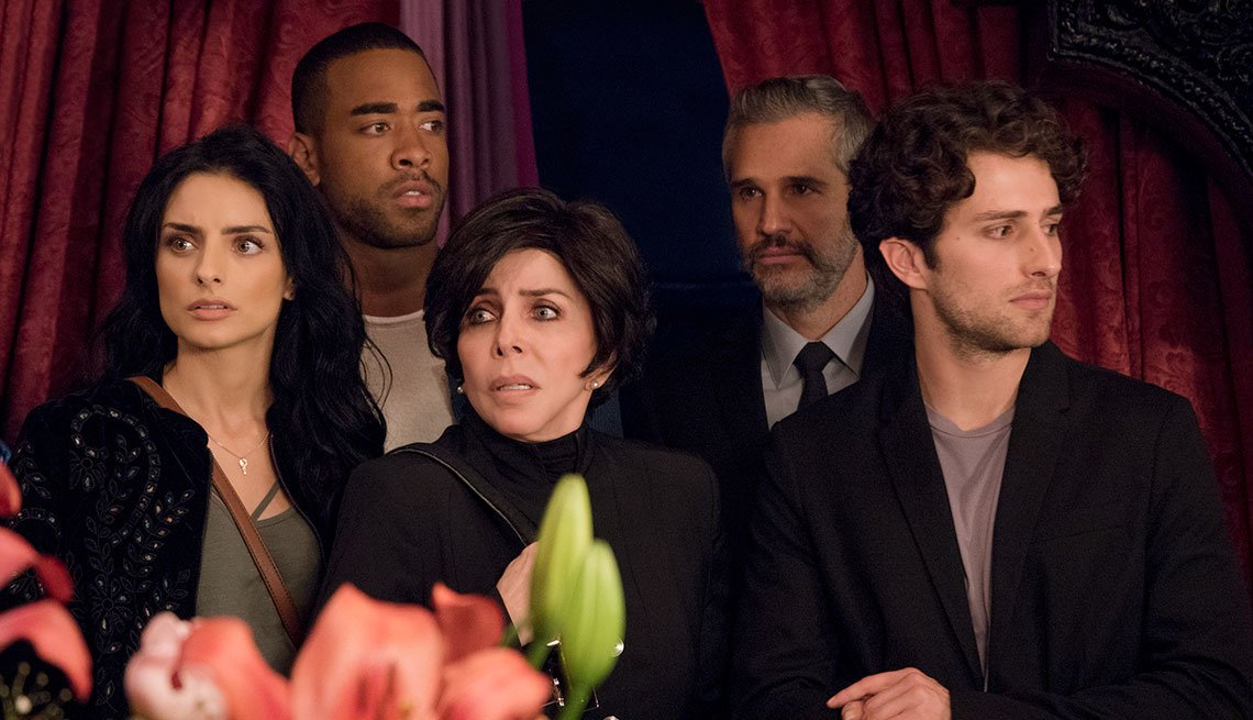 Promoción de la serie La casa de las flores  con Aislin Derbez, Verónica Castro, Juan Pablo Medina, Dario Yazbek
