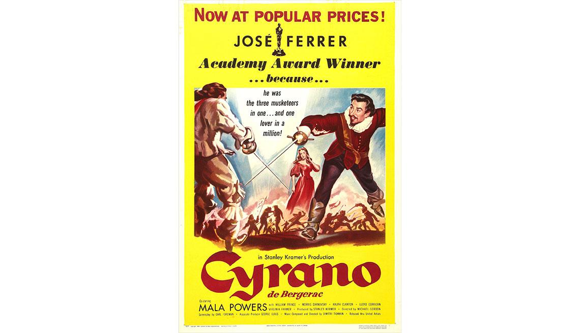 item 5 of Gallery image - Afiche de Cyrano con el actor José Ferrer