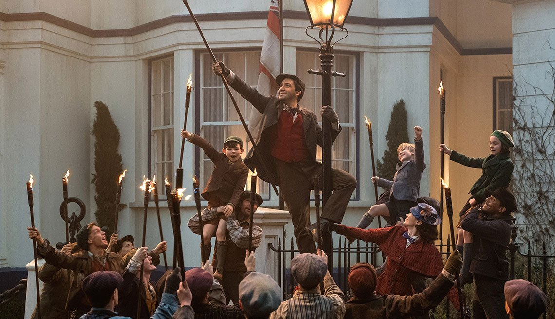 Lin-Manuel Miranda en la película Mary Poppins Returns