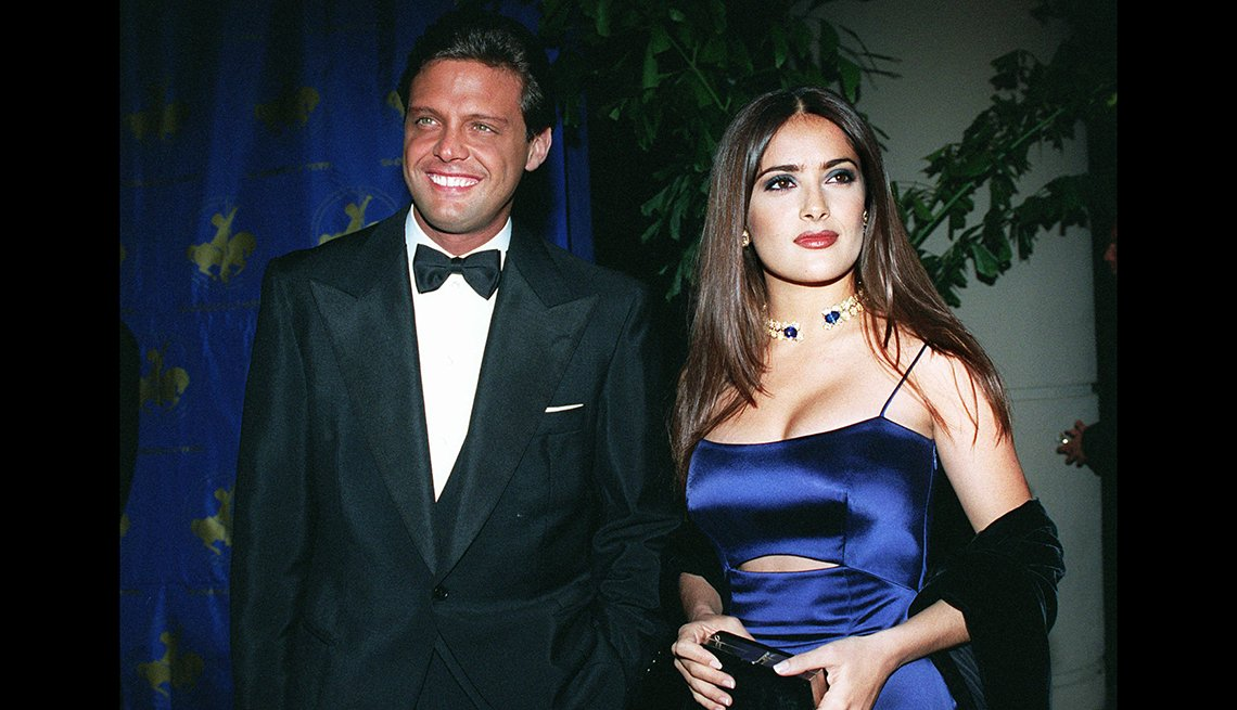 Luis Miguel y Salma Hayek en 1996