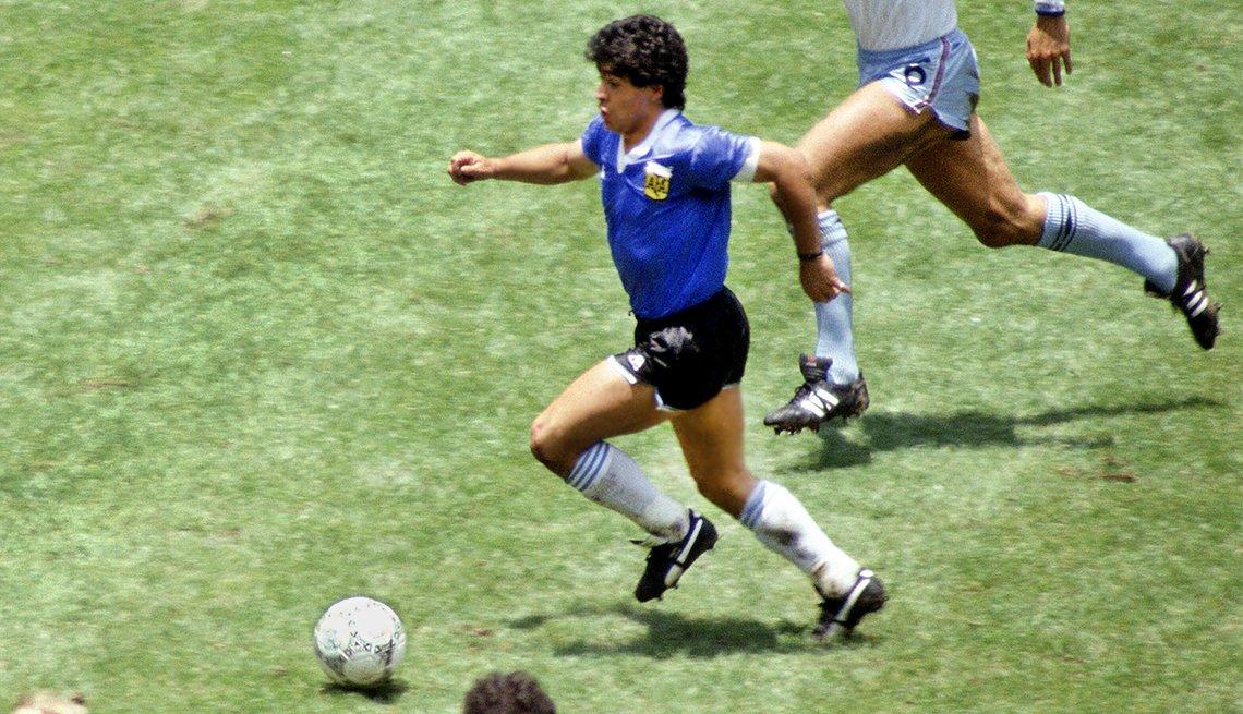 Maradona en el Mundial de 1986