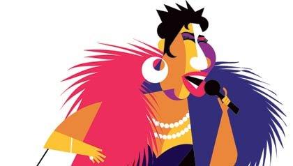Illustration of Aretha Franklin