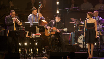 Wynton Marsalis performs with Willie Nelson and Norah Jones.
