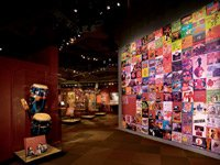 Room from the American Sabor Exhibit, exploring the roles of Latino musicians.