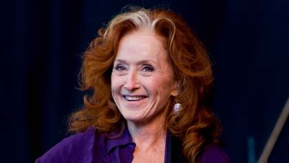 Bonnie Raitt performs at the Musicians United for Safe Energy (M.U.S.E.) concert in California.
