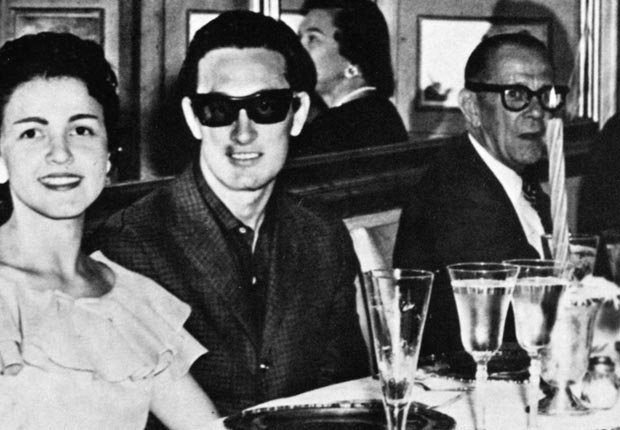 Buddy Holly's widow, far left, never visited his grave after he died in a plane crash in 1959