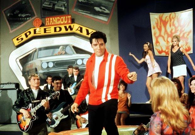 Elvis Pressley starred in Speedway in 1968