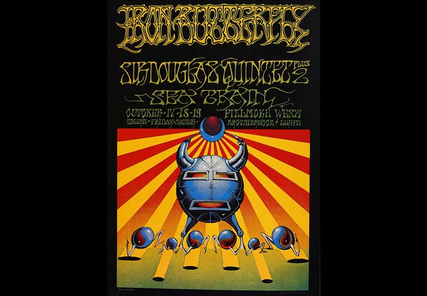 poster for Iron Butterfly concert