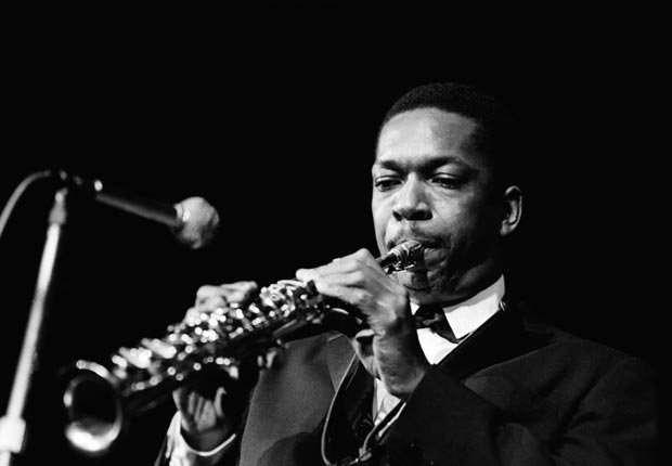 John Coltrane performing in 1961 in Copenhagen
