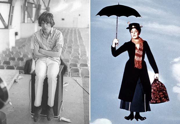 Mick Jagger and Mary Poppins Diptych