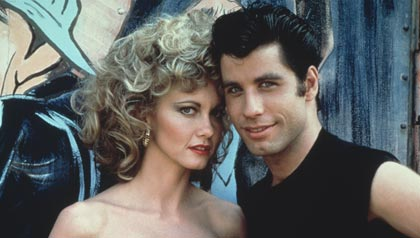 Olivia Newton-John and John Travolta,