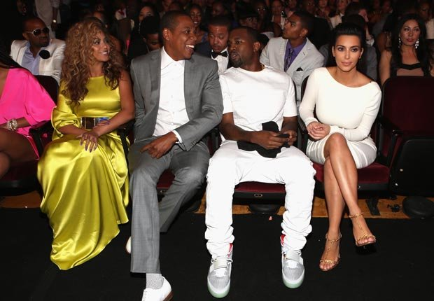Beyoncé, Jay-Z, Kanye West and Kim Kardashian
