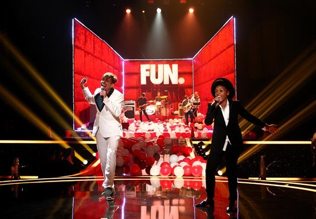 The band Fun. with singer Janelle Monae