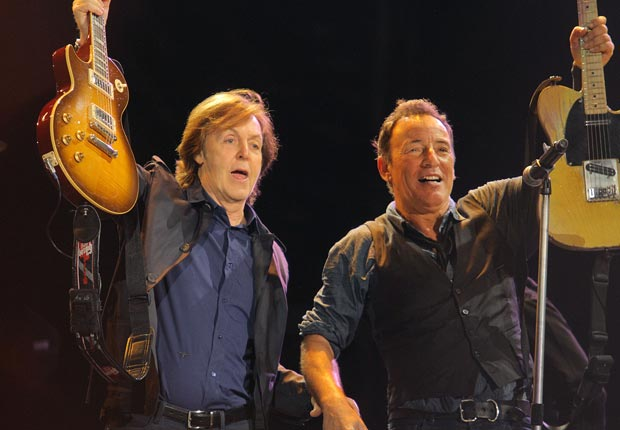 Sir Paul McCartney and Bruce Springsteen