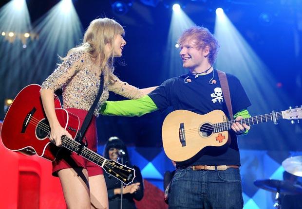 Taylor Swift y Ed Sheeran - Guía para los premios Grammys 2013