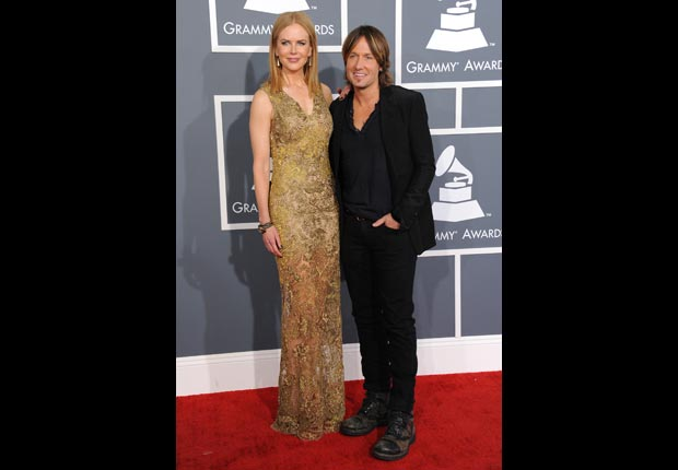 Nicole Kidman and Keith Urban arrive at the 55th annual Grammy Awards.
