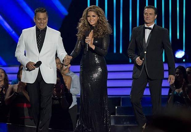 Daniel Sarcos, Ana Barbara y Juan Soler en los premios BillBoard 2013