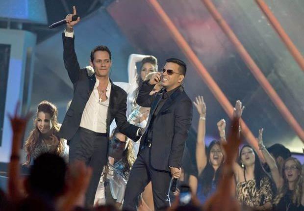 Marc Anthony y Tito el Bambino en los premios BillBoard 2013