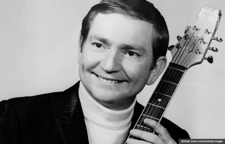 Willie Nelson with electric guitar, 1967