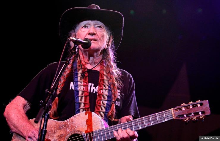 Willie Nelson performing in Hollywood, FL, 2013.
