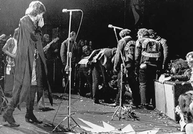 Rolling Stones - Mick Jagger en el Festival de Altamont Roca en Livermore, California, 8 de diciembre de 1969