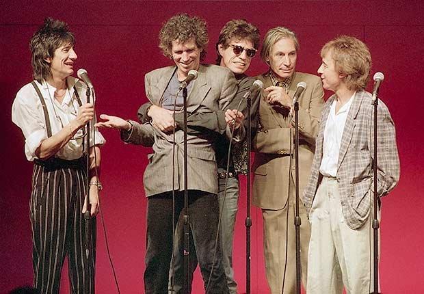 Rolling Stones - The Rolling Stones se reúne en Grand Central Terminal de anunciar una gira muy esperada y un nuevo álbum, Steel Wheels.