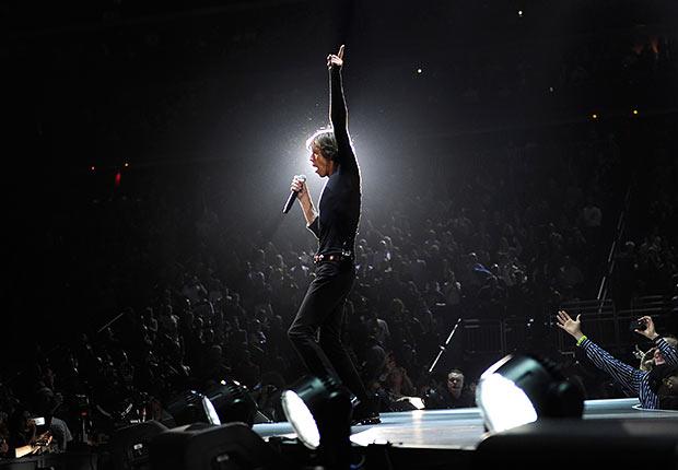 Rolling Stones - Mick Jagger de los Rolling Stones en el Prudential Center el 13 de diciembre de 2012 en Newark, Nueva Jersey.