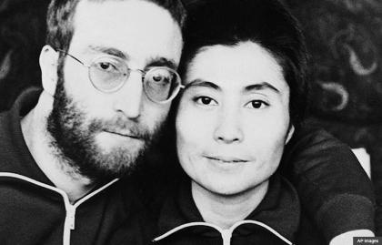 John Lennon and Yoko Ono, 1970. (AP Images)