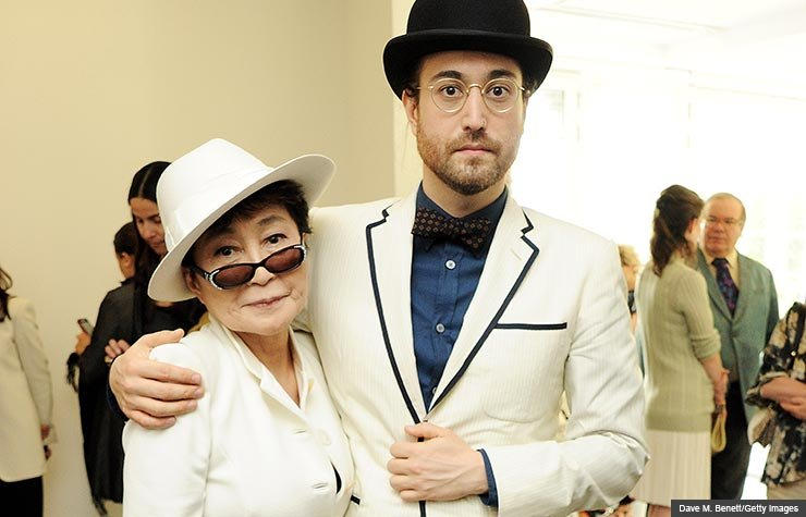 Yoko Ono and son Sean Lennon, 2012. (Dave M. Benett/Getty Images)