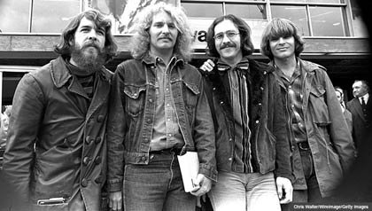 Creedence Clearwater Revival CCR 1970 Doug Clifford, Tom Fogerty, Stu Cook, John Fogerty en Londres, Inglaterra