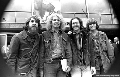 Creedence Clearwater Revival CCR 1970 Doug Clifford Tom Fogerty Stu Cook John Fogerty in London, England, John Fogerty Interview (Chris Walter/WireImage/Getty Images)