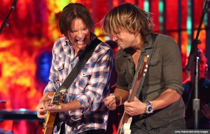 Musicians John Fogerty and Keith Urban perform onstage, John Fogerty Interview (Chris Polk/ACMA/Getty Images)